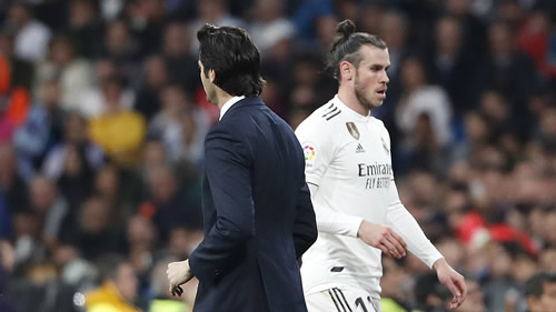 Bale gamble showed a split between Solari and the dressing room