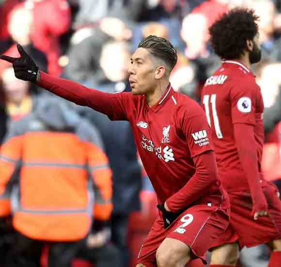 Liverpool 4 Burnley 2: Firmino and Mane keep Reds hot on City's heels