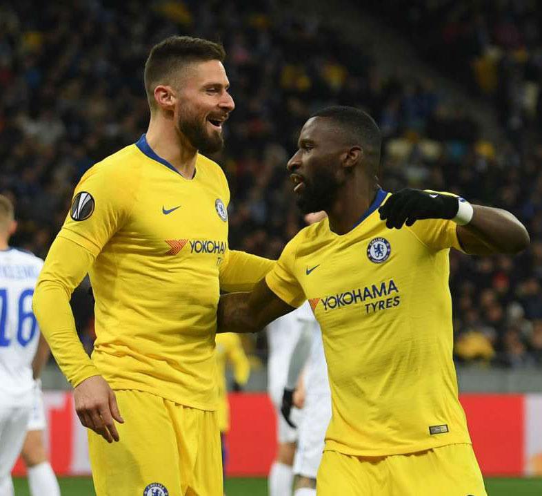 Dynamo Kiev 0 Chelsea 5 (0-8 agg): Blues into quarter-finals after Giroud treble