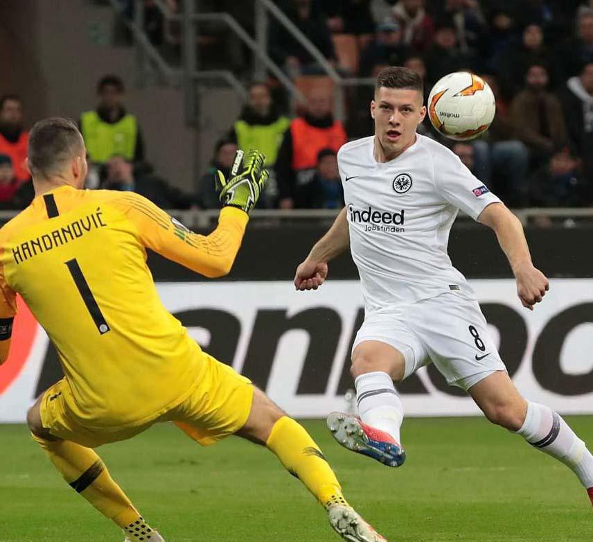 Inter 0 Eintracht Frankfurt 1 (0-1 agg): Jovic sends Nerazzurri crashing out