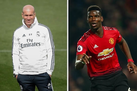 Real Madrid boss Zinedine Zidane reacts to Paul Pogba transfer question
