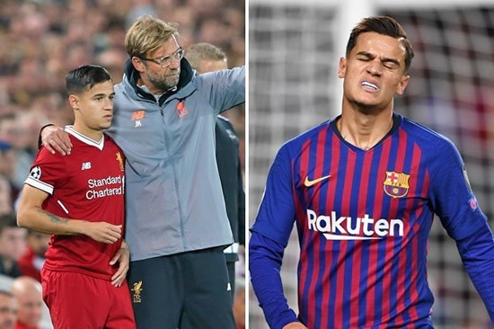 Liverpool boss Jurgen Klopp urged to re-sign Philippe Coutinho from Barcelona 'now'