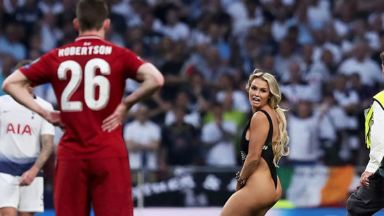 Champions League pitch invader sent flirty messages by Liverpool players