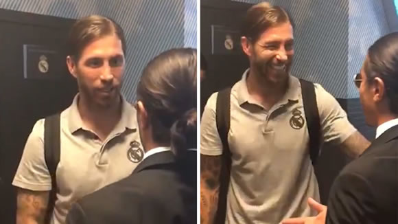 Sergio Ramos shows off his English in conversation with Salt Bae