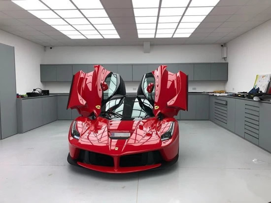 AUBA THE TOP Arsenal ace Aubameyang slated for 'ruining' his £2m red LaFerrari supercar by wrapping it in chrome