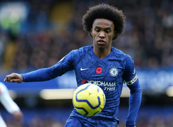 Chelsea star Willian 'offered to Real Madrid but Zidane turns down transfer' as winger runs down contract