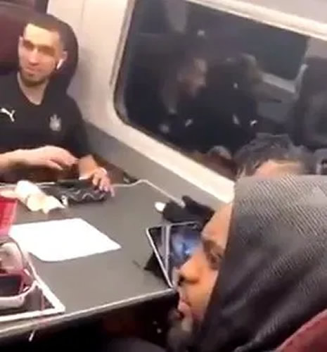 Newcastle stars including Danny Rose involved in train bust-up with fan on way home after Arsenal humiliation