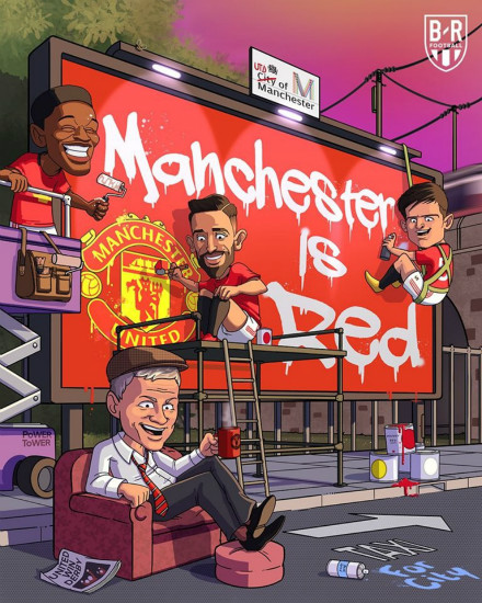 7M Daily Laugh - Manchester is Red