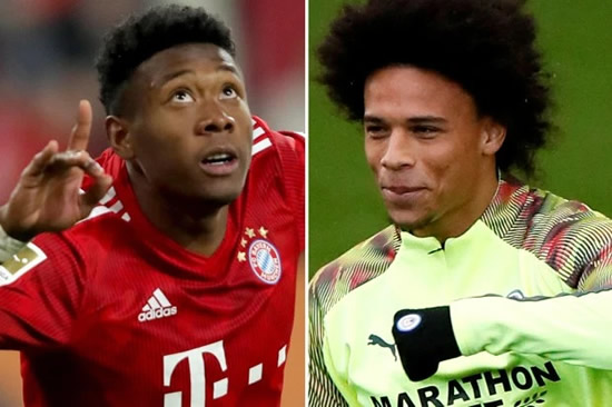 AL OR NOTHING Man City set to be offered stunning transfer for Leroy Sane of David Alaba PLUS £50million by Bayern Munich