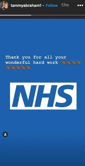 Clap for NHS workers: Premier League stars come together to thank NHS heroes