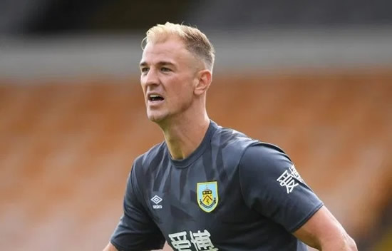 JOE HERE WE ARE Joe Hart lined up to join ex-England team-mate Wayne Rooney at Derby on free transfer with Besiktas also keen