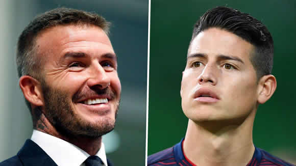 Beckham in talks with Real Madrid to bring James Rodriguez to Inter Miami