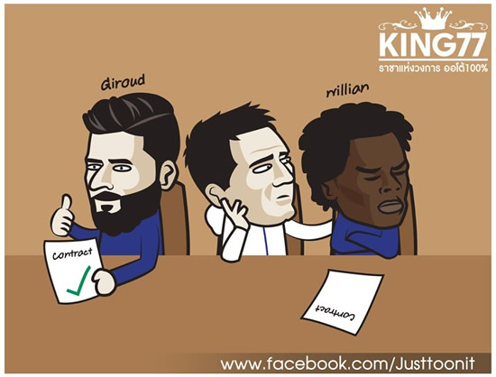 7M Daily Laugh - Giroud set to remain at Chelsea