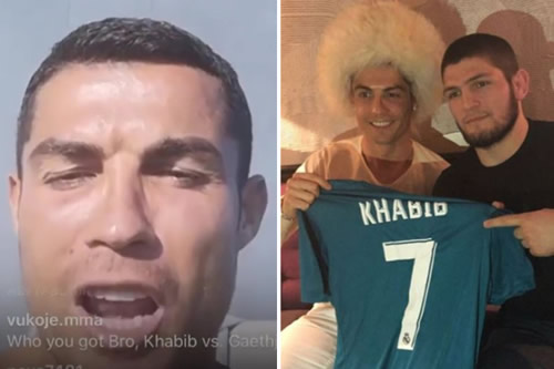 Cristiano Ronaldo backs Khabib to beat Justin Gatethje as Juventus star says 'of course' UFC champ will retain belt